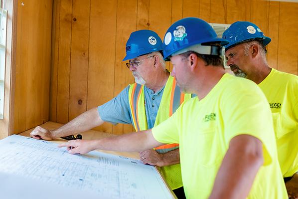 Three Fiegen Construction Employees