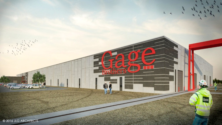 Rendering of the new Gage Brothers Plant Siox Falls SD