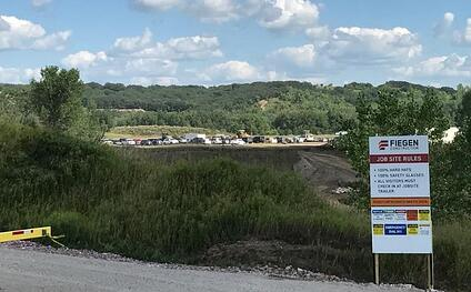 Construction site of the new $40 million Gage Brothers project
