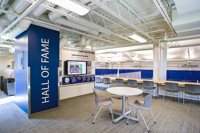 Huether Family Match Pointe   South Dakota Tennis Hall of Fame   Fiegen Construction