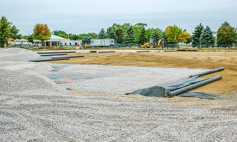 USD Dakota Dome Practice Fields | Fiegen Construction | Sioux Falls