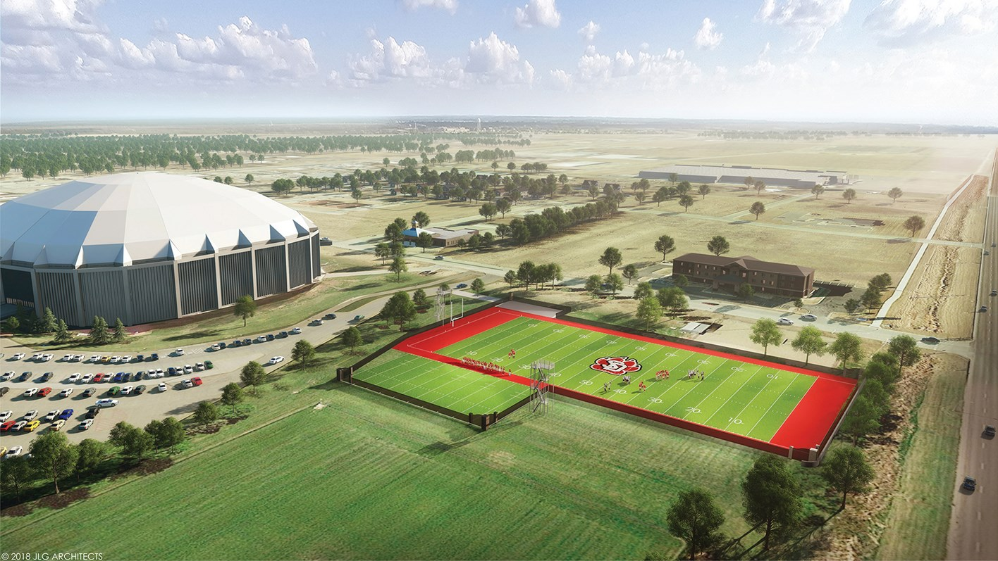 DakotaDome Practice Football Fields | University of South Dakota | Vermillion, South Dakota | Fiegen Construction