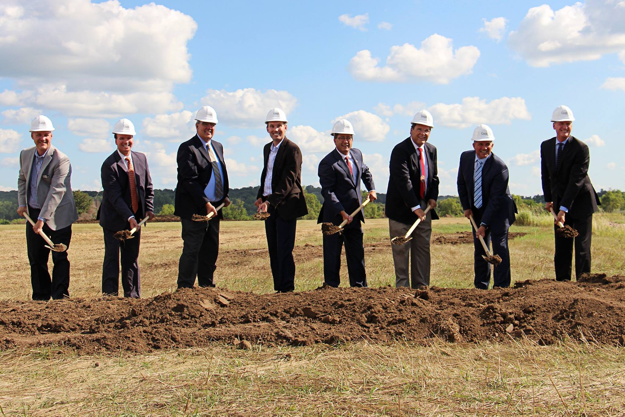 Groundbreaking for the new Gage Brothers headquarters in Sioux Falls SD