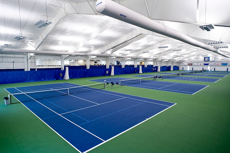 Huether Family Match Pointe tennis courts | Fiegen Construction