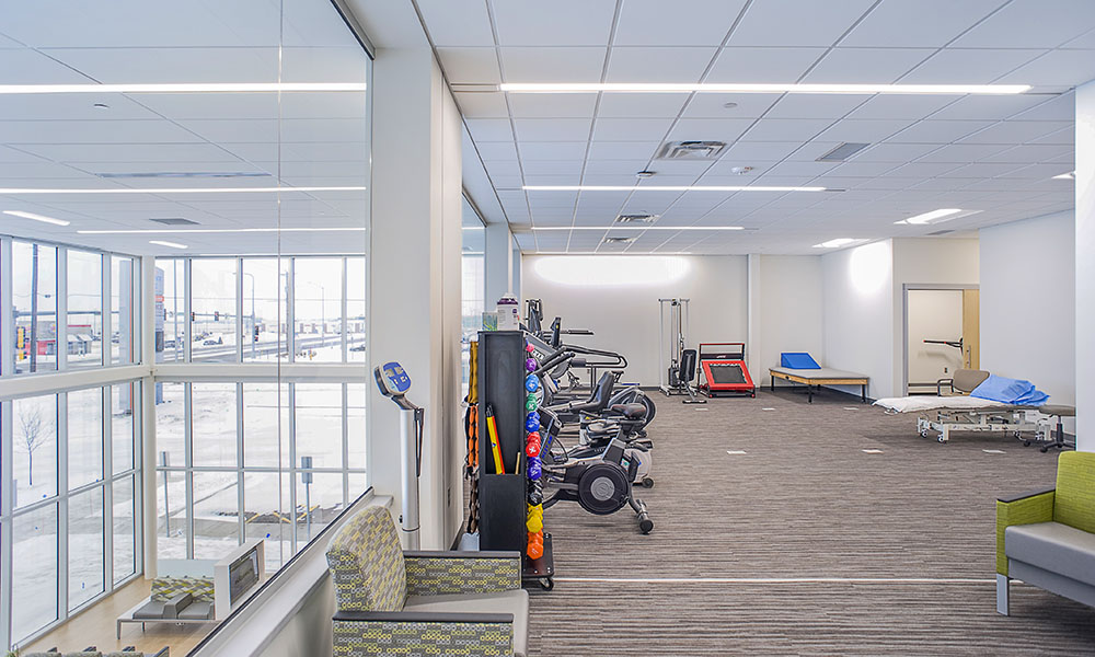 Sioux Falls Hospital Urgent Care Physical Therapy Area | Fiegen Construction