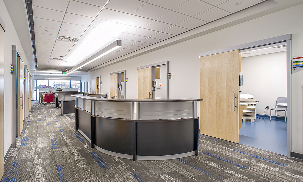 Sioux Falls Hospital Urgent Care Nurse Station | Fiegen Construction