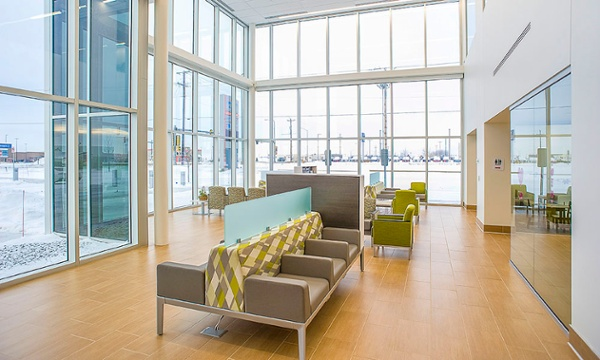Sioux Falls Hospital Urgent Care Lobby Seating | Fiegen Construction