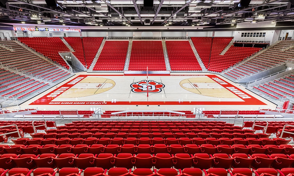Sanford Coyote Sports Center at the University of South Dakota